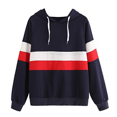 821154d8589 Angelof Sweatshirt Femmes Pull Filles Sweatshirt Femme A Capuche  Automne Hiver Manches Longues Hoodie Jumper Marine Chic Soldes Pullover Tops
