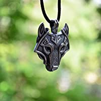 Vintage Mens Retro Stainless Steel Wolf Animal Head Pendant Necklace Chain Gift#by pimchanok shop