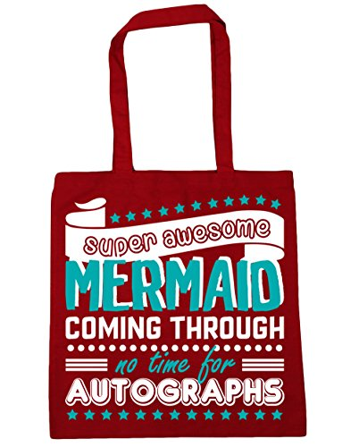 Awesome Bag Beach 10 litres Super x38cm Red HippoWarehouse 42cm Mermaid Through No Coming For Classic Shopping Gym Autographs Time Tote F5wq7ORw