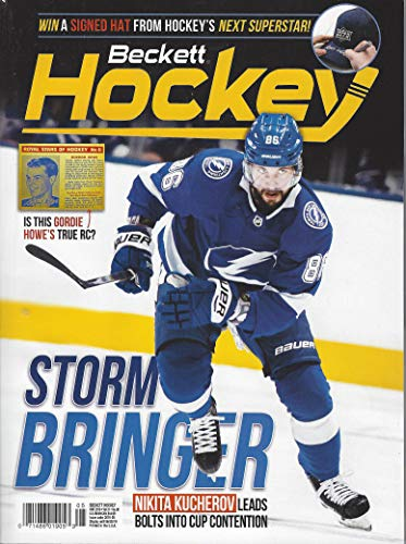 NEWEST GUIDE: Beckett Hockey Card Monthly Price Guide (April 3, 2019 release/N. Kucherov cover)