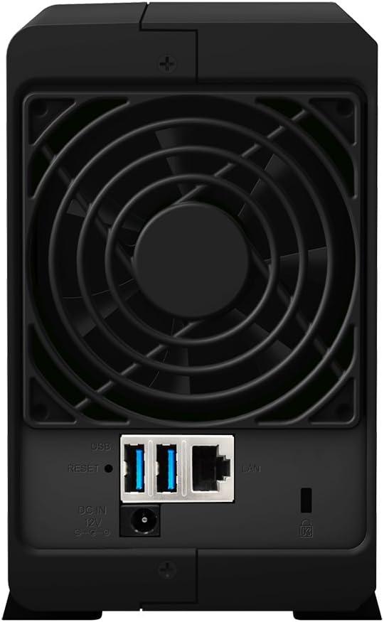 2 Bay Desktop NAS-Einheit Synology DS218PLAY//8TB-RED 8TB 2x 4TB WD Rot