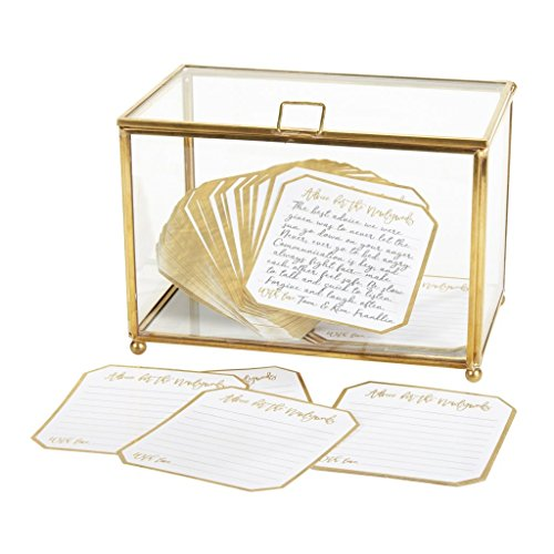 C.R. Gibson Gold Trimmed Box and Advice Cards Wedding Decoration, 121 pc