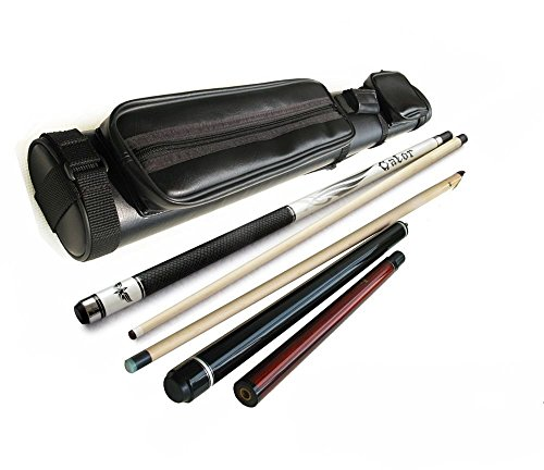 Gator by Champion Sport Co Champion SP-R Pool Cue Stick 21 Oz, Nemesis Jump & Break Cue 21 Oz, 2x2 Case, Glove