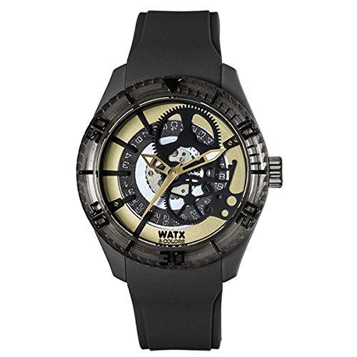 Watx Reloj Análogo clásico para Mujer de Cuarzo con Correa en Caucho RWA1900: Amazon.es: Relojes