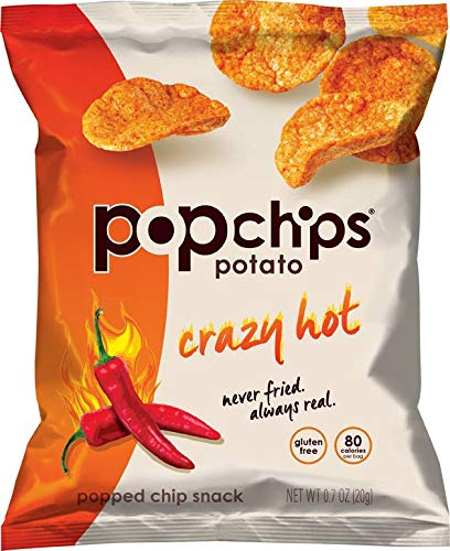 Popchips Crazy Hot Popped Snack Chips, 0.7 Ounce - 72 per case. by popchips (Image #1)