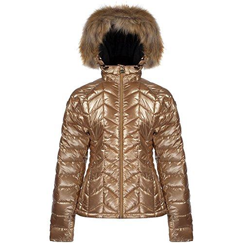 Dare 2b Womens/Ladies Endow Water Repellent Nylon Ski Jacket Metallic Gold