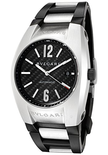 - Bulgari Men's Diagono Mechanical/Automatic Black Carbon Fiber Dial Black Rubber
