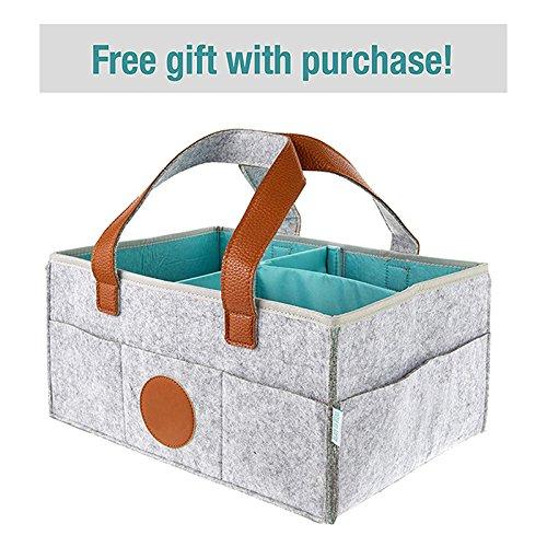 ADSRO Felt Storage Basket or Storage Box, Portable Large Diaper Box Organizer Manager Girls and Boys' Bags by ADSRO