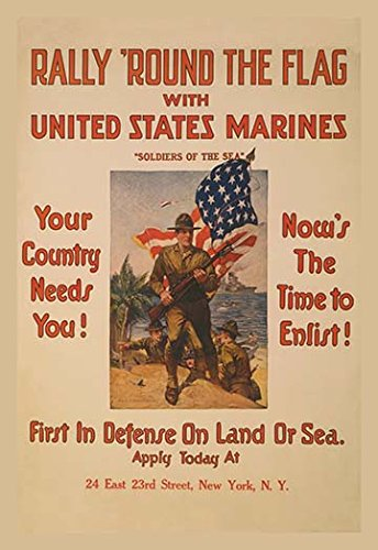 Rally round the flag with the United States Marines 20x30 poster - Buyenlarge Flags