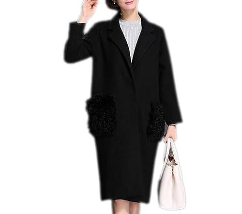 Abrigo De Mujer Abrigo De Solapa De Moda Chaqueta Larga Trinchera Cazadora Outwear