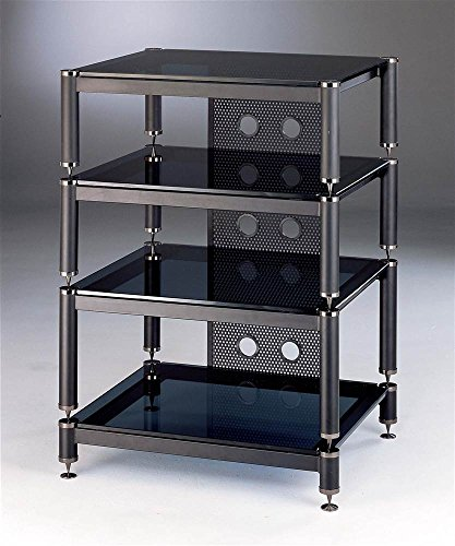 BLG Series Audio Video Rack w Black Shelves (Lovan Audio Racks)