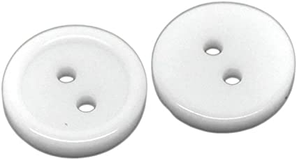 50 Buttons 11mm Clear 2 Holed Round Buttons