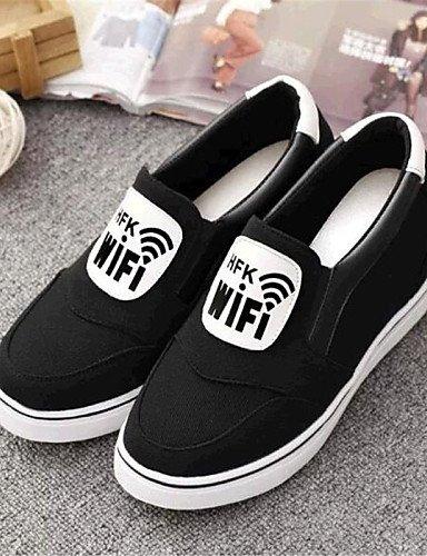 ZQ gyht Zapatos de mujer-Tacón Cuña-Cuñas-Mocasines-Exterior / Casual-Tela-Negro / Rojo / Gris , gray-us8 / eu39 / uk6 / cn39 , gray-us8 / eu39 / uk6 / cn39 black-us5.5 / eu36 / uk3.5 / cn35