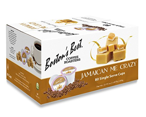Boston's Best Single Serve K-Cup Coffee, Jamaican Me Crazy, 80 Count