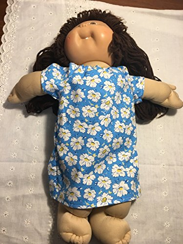 Fits Cabbage Patch Kids Doll Clothes Blue Peasant Dress Spring Night Gown Costume Handmade Clothes Only