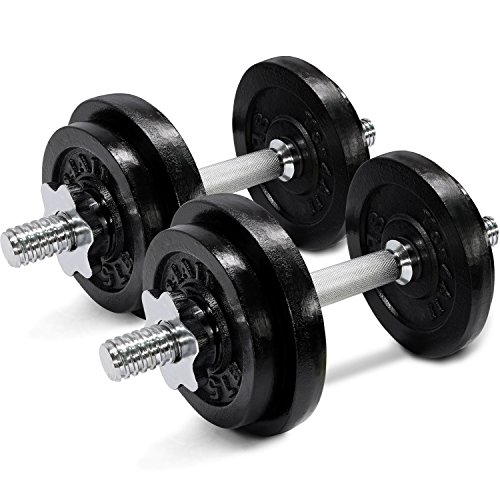 60 lbs Adjustable Cast Iron Dumbbells - ²D1IBZ