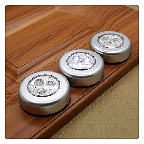 (KFZ Wireless LED Puck Light   LED Under Cabinet Lighting   Closet Light   Battery Powered Lights   Under Counter Lighting   Stick On Lights (6 Pack) )