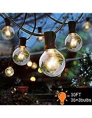 Guirnaldas luminosas de exterior, BEIEN G40 30ft Luces de la secuencia del jardín al aire libre,Decorative String Luces de patio,Garden Terrace Luces de patio de Navidad