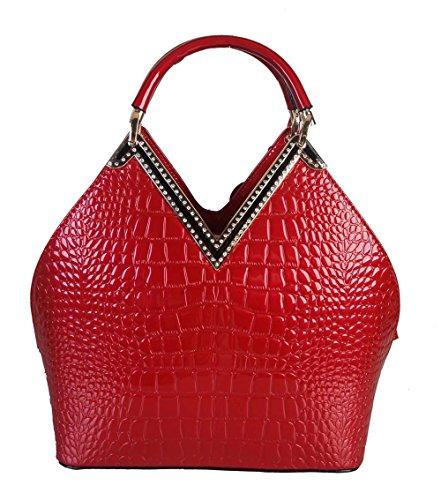 Red Patent Handbag: Amazon.com