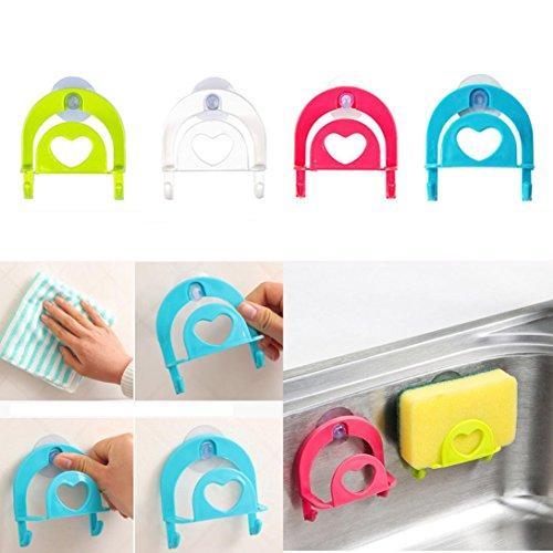 DZT1968 1PC Cute Sponge Holder Suction Cup Convenient Home Kitchen Holder Tools Gadget Decor random color