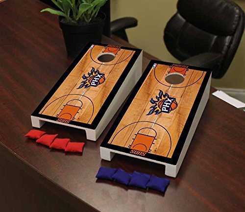 Victory Tailgate Phoenix Suns NBA Basketball Desktop Cornhole Game Set Basketball Court Version