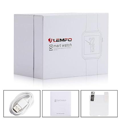 Reloj inteligente Lemfo LF07 para bluetooth, con soporte ...