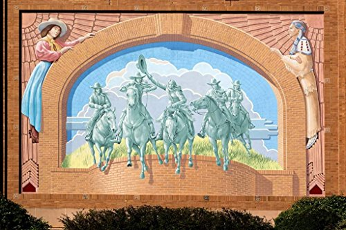 Photograph | Trompe l'oeil mural by artist Richard Haas outside the National Cowgirl Museum and Hall of Fame in Fort Worth, Texas| Fine Art Photo Reporduction 36in x 24in