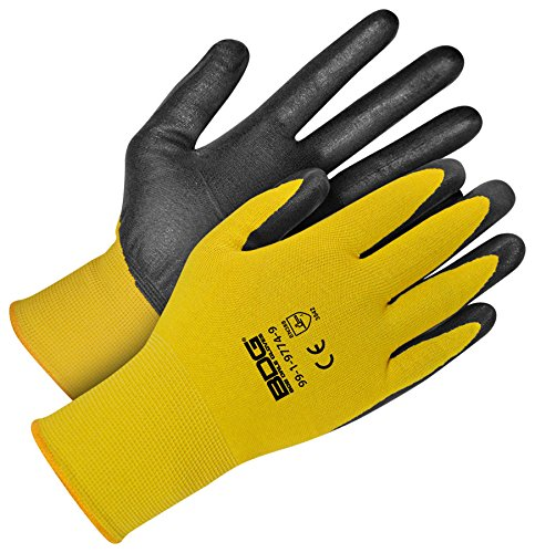Bob Dave Gloves Bob Dale Gloves 99197747 Yellow 18G Seamless Knit Kevlar Cut Level 5 w//Black Npr F