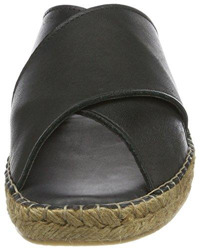 Royal RepubliQ Wayfarer Cross Sandal, Sandalias con Punta Abierta para Hombre Schwarz (Black)