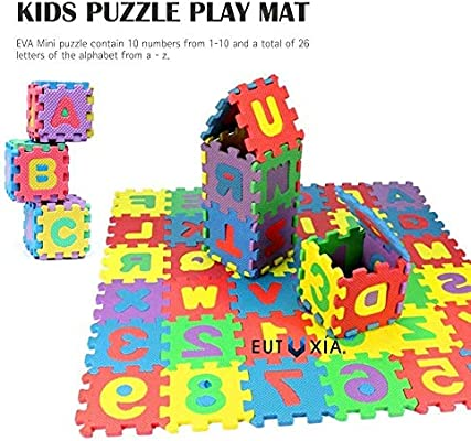 Children Kids Educational Foam Puzzle Learning Alphabet Letters /& Numbers