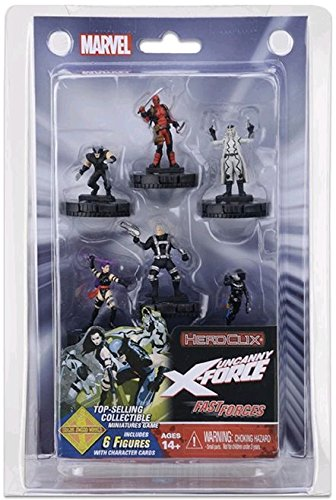 Marvel HeroClix: Uncanny X-Force Fast Forces ( 6 Figures ) Wizkids 72538