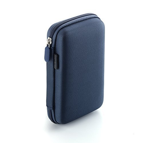 Drive Logic DL-64 Portable EVA Hard Drive Carrying Case Pouch, Blue
