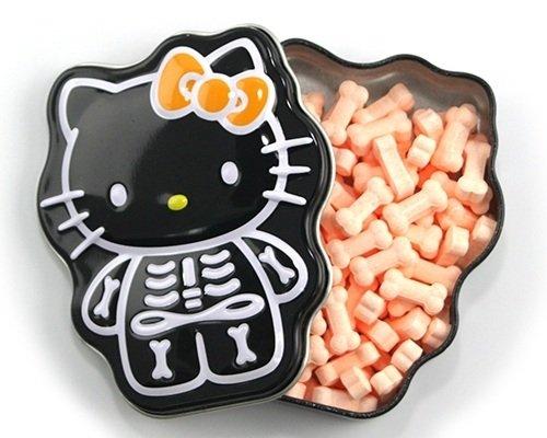 Hello Kitty Skelly Bones Sour Orange Candy Tin - 3 TIN -