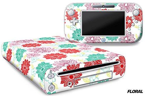 Designer Skin for Nintendo Wii U Console plus Controller Decal for: Wii U System - Floral