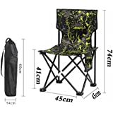 WAOBE Camouflage Folding Chair Fishing Outdoor Portable Outdoor Recreation Back Art Sketch Comfortable Lounge Chair