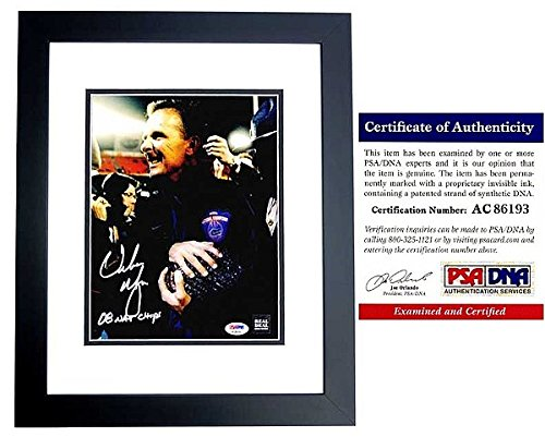 Urban Meyer Autographed Florida Gators UF 8x10 Photo - 3x National Champion Coach - Black Custom Frame - PSA/DNA - Frames Coach Online