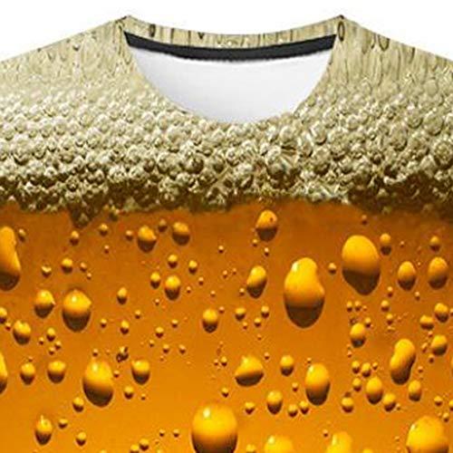 Jaune Nouvelle Grande Sweat Courtes Taille Blouse lin Hommes Day Manches 3d Haut Inondé T Shirt À Pull Liquidation Imprimé shirt Mode Casual w1HxX4Zq