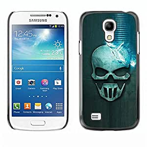 Be Good Phone Accessory // Dura Cáscara cubierta Protectora Caso Carcasa Funda de Protección para Samsung Galaxy S4 Mini i9190 MINI VERSION! // Blue Skull