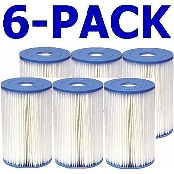 Intex 59905E Type B Pool Filter Cartridge (6-Pack)