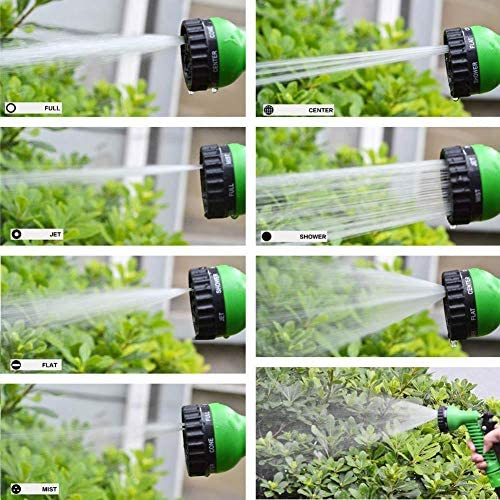 CIVIKY New Expandable Garden Hose Flexible Pipe Expanding With Spray Gun 7 Multifunctional Spray Head-100FT