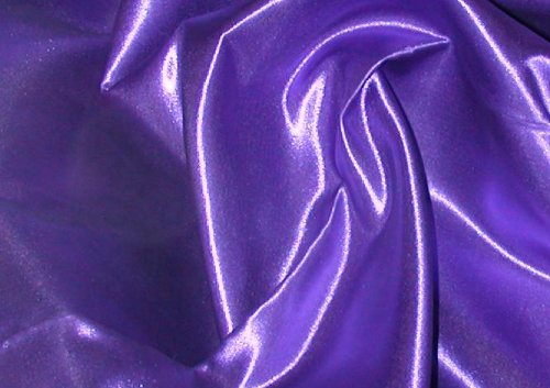 Linen Superstore King Size Premium Bridal Satin Waterbed Sheet Set with Free Stay Tuck Poles - Purple