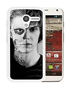 Moto X Case,100% brand new Evan Peters 2 White Case For Moto X