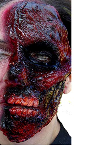 Two Face Costume Makeup Adult Burned Face Prosthetic]()