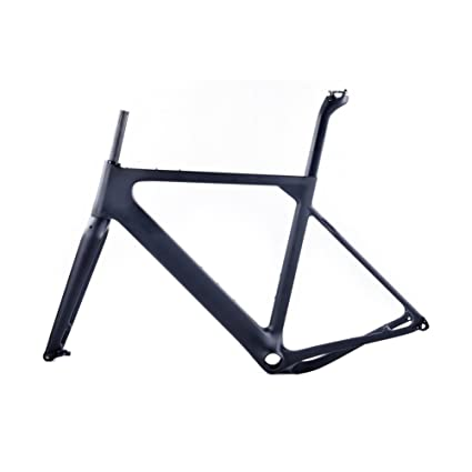 Amazon.com : Smileteam 2018 New Aero Carbon Gravel Frame T800 Carbon ...