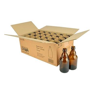 Juego de botellas de cerveza Steinie, 24 x 330 ml, color marrón, caja robusta con 24 botellas de cerveza para rellenar: Amazon.es: Industria, empresas y ciencia