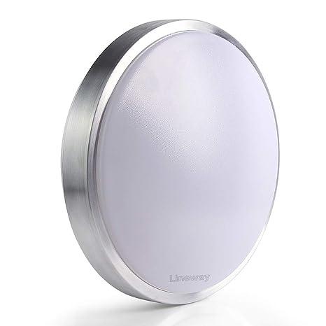 Lineway Lámpara LED de Techo, Plafón de Techo LED con Sensor de Movimiento, Luz Automática, Sensor de Microondas, Luz Activada por Sensor,15W, 1000 ...