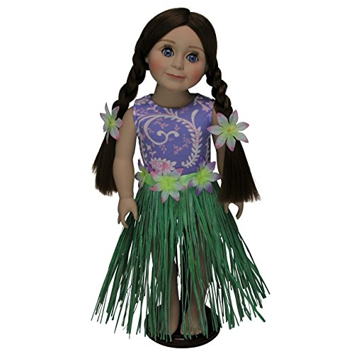 Dress Up Dolls Clothes (Hula Girl Swim Doll Clothes Outfit Sized for 18