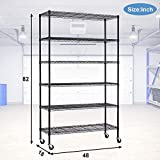 PayLessHere Wire Shelving Unit with Wheels 6 Tier
