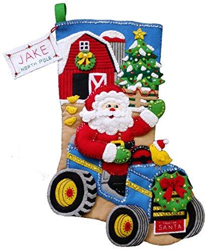 Christmas on the Farm Felt Stocking Kit made