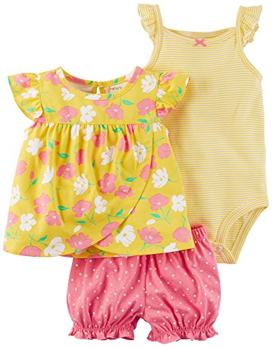 - Carter's Baby Girls' 3 Piece Bodysuit & Diaper Cover Set 6 Months